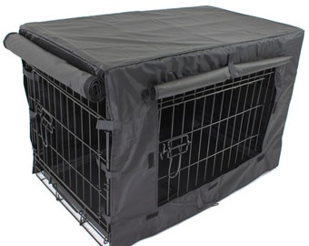 PetJoint Heavyduty Canvas WaterProof Cover for Pet Puppy Dog Crate. Crate not Included