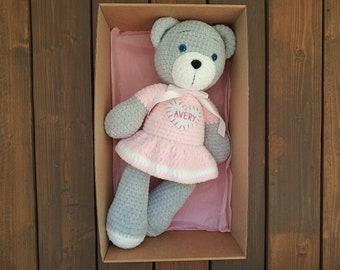 Bear Love Blanket Crochet pattern UK – Kerry Jayne Designs   270x340