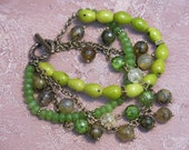 Multi-row bracelet made of stones Stone bead bracelet Bright bracelet made of stones 4-row lock bracelet