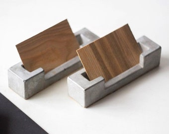 Cement Concrete Business Card Holder Industrial Modern Professional NEW