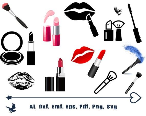 Makeup Svg Bundle Lipstick Svg Mascara Svg Nail Polish Svg Etsy