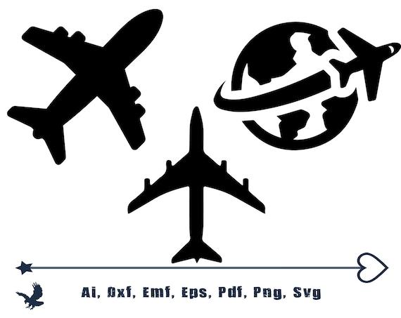 Avion Svg Avion Clipart Avions Clipart Avion Silhouette Avion Etsy