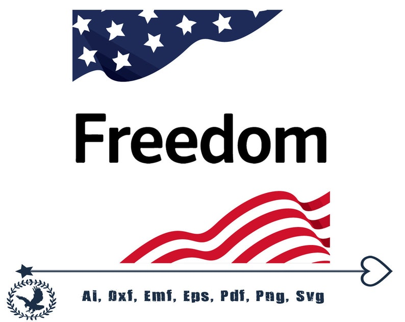 Freedom svg,usa flag,png,pdf,eps,dxf files