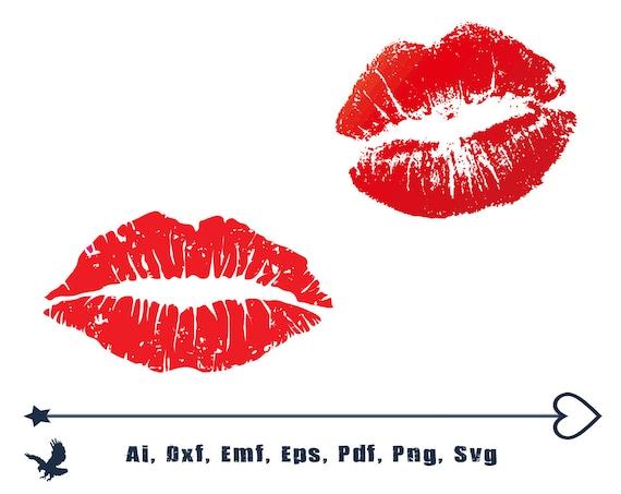 Kiss Svg File Lips Svg Kisses Svg Red Kiss Lips Kissing Etsy