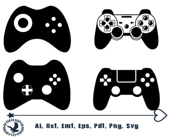 dxf Game Controller SVG joystick svg ps4 playstation Clipart Silhouette Printable Cut Files cricut Instant Download Cricut svg