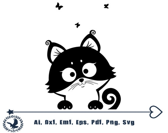 Cats Svg Kitty Svg Kitten Svg Cute Cat Svg Cartoon Cat Svg Cat Etsy