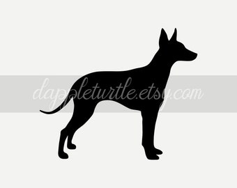 26988e5ce18a3d English Toy Terrier silhouette: instant download PNG and SVG files,  suitable for commercial use