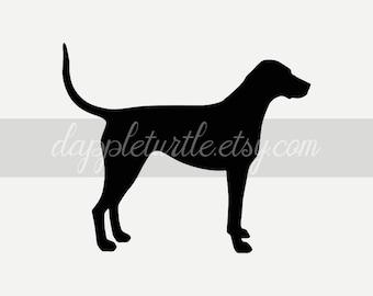 American Foxhound Keychain Silhouette