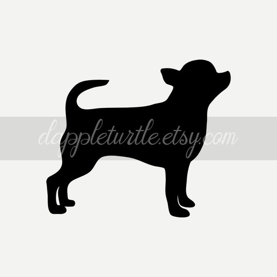 Smooth Coat Chihuahua Silhouette Instant Download Png And Svg Etsy