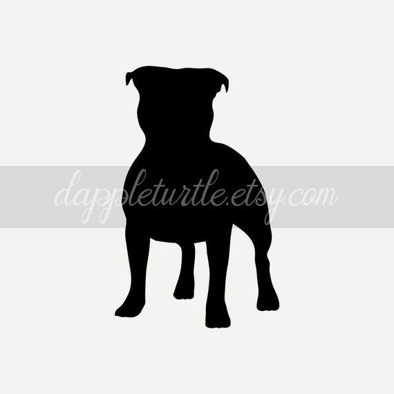 Staffordshire Bull Terrier Silhouette Instant Download Png Etsy