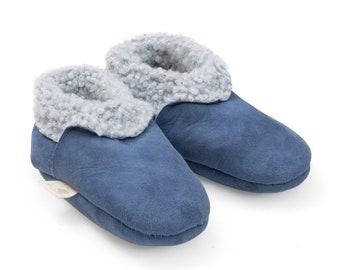 3571e671297 Baa Baby Lambskin Booties Blue from 0 - 3 years