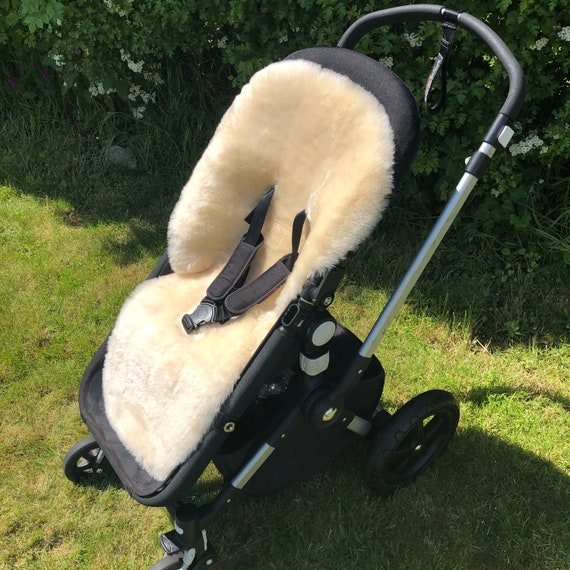 Natural 100/% Sheepskin Baby Buggy Liner Stroller Pushchair Pram Liner