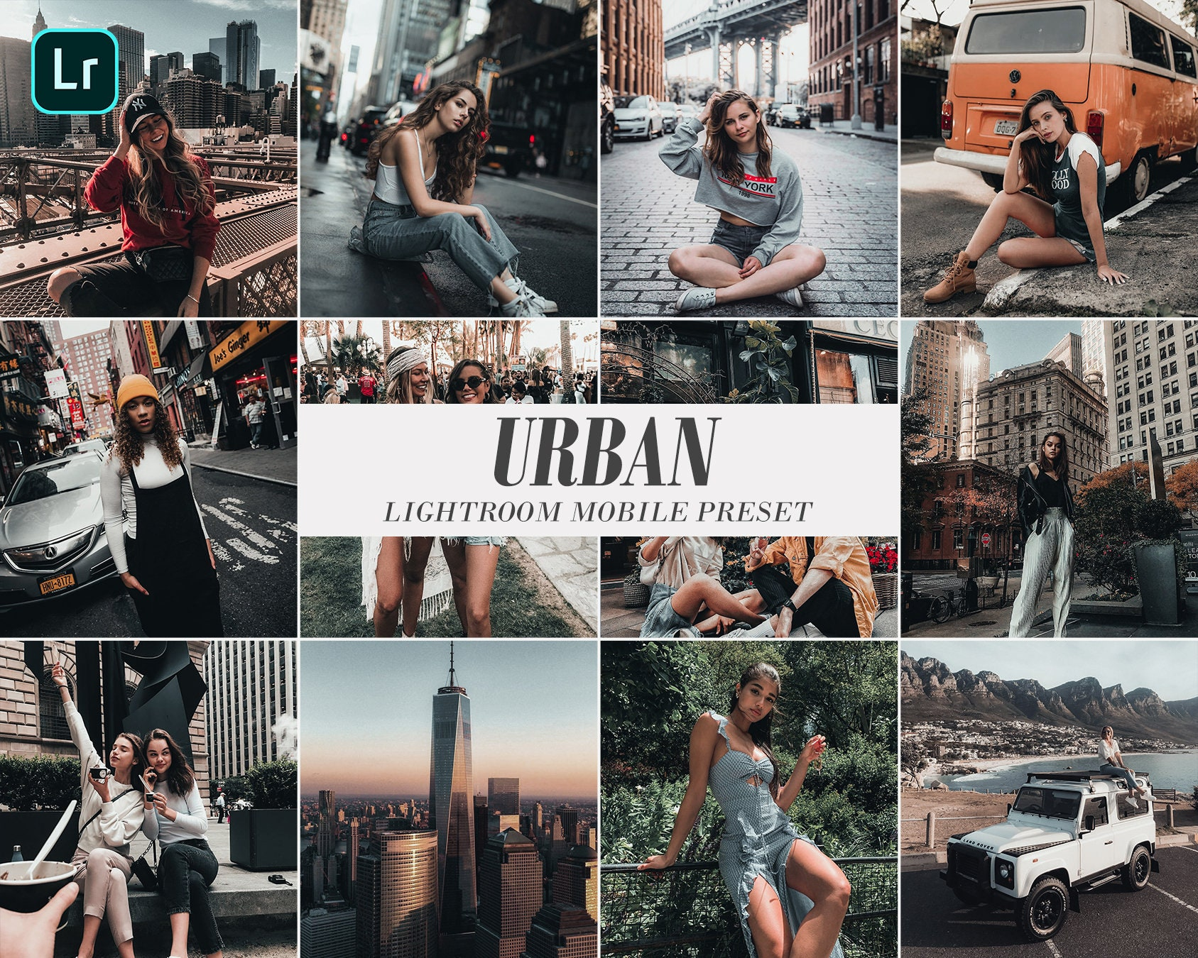 2 Mobile Lightroom Preset URBAN for Instagram Blogger Lifestyle Influencer  Trendy Travel