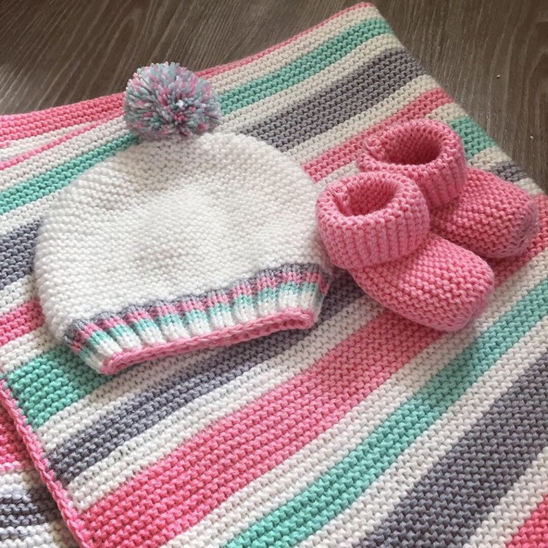 Baby blanket knitting pattern easy pattern for beginners ...