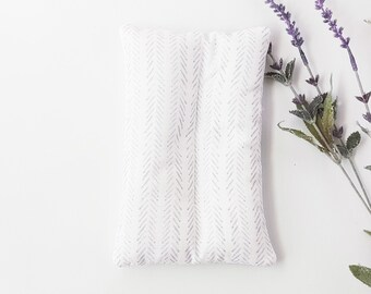 Light Herringbone Migraine Relief Microwave Hot Cold Rice Pack for Chronic Pain Menstrual Pain Fibromyalgia Endometriosis
