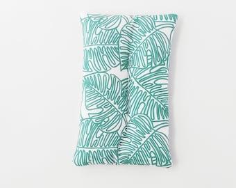 Monstera Plant Lover Line Art Migraine Relief Microwave Hot Cold Rice Pack for Chronic Pain Menstrual Pain Fibromyalgia Endometriosis