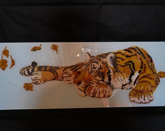 Painting on glass Tiger.Painting animal 17a0ca226