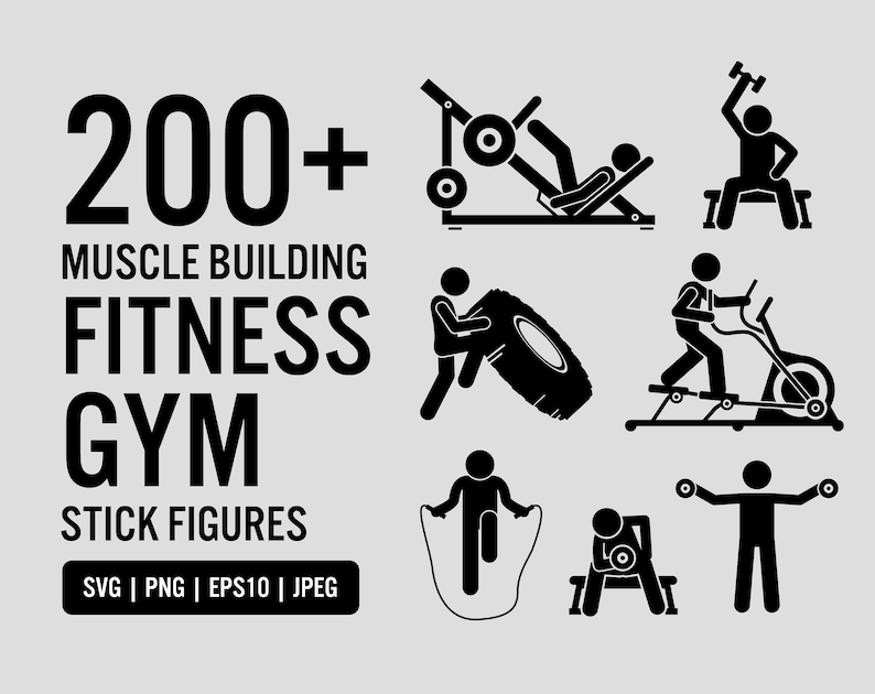 Muscle Building Body Builder Gym Fitness Exercise Weight image 0