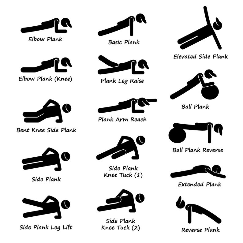 Plank Training Variations Exercise Poses Postures Strength image 0
