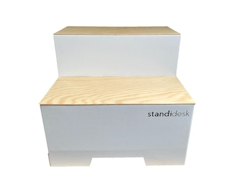 Active Stand Wooden Edition - A Simple Standing Desk Converter - Wooden Finish (UK market)