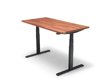 Oakdesk - Electric Adjustable Wooden Standing Desk With Premium Merbau Tabletop (UK & EU)