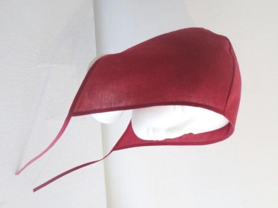 RE-ENACTMENT cotton medieval light hat cap bonnet black white sizes Adult Kids