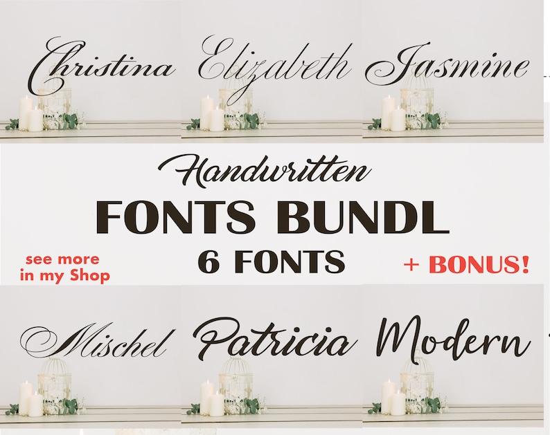 Download Font Bundle Cricut Fonts Script Font svg Wedding Font | Etsy