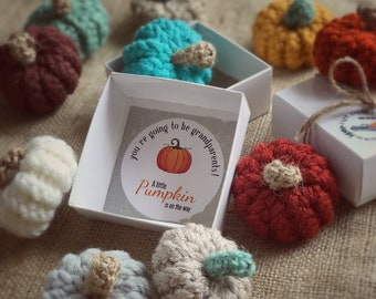 PREGNANCY REVEAL BOX, Little Pumpkin Pregnancy Announce, You're Going To Be Grandparents, Halloween Reveal, Fall Baby Keepsake
