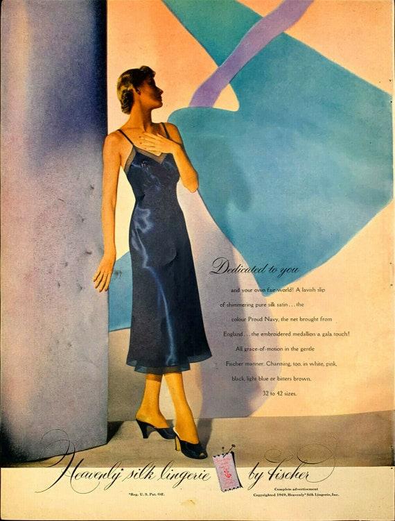 Vintage 1949 Vogue Heavenly Silk Lingerie By Fisch