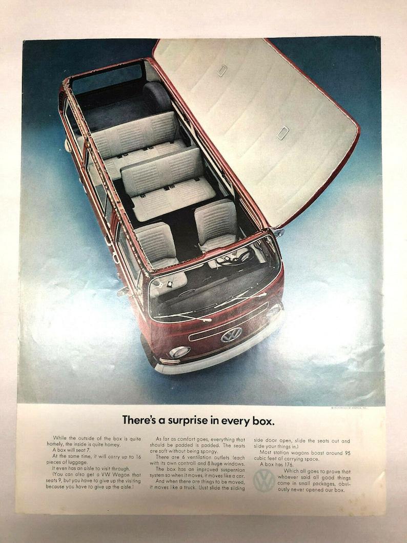 1968 Volkswagon VW Bus Station Wagon Print Ad