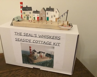 SEASIDE  COTTAGES KIT, Driftwood Style, create your own mini coastal scene... Includes all materials.