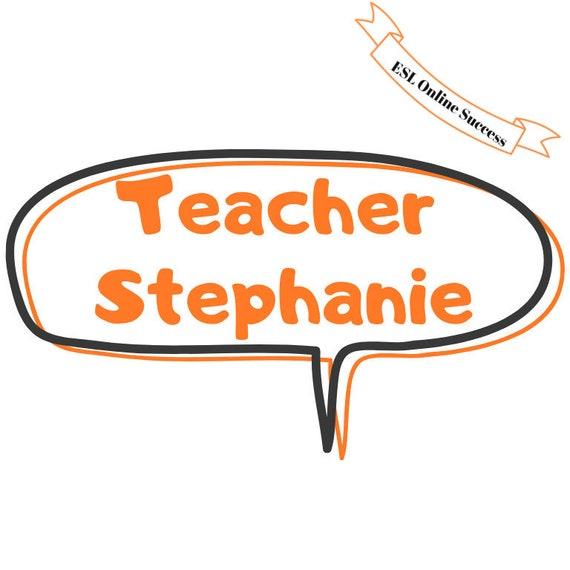 Teacher name banner, personalized. Classroom decoration, online classroom  prop, vipkid background, vipkid prop, gogo kid background, esl.