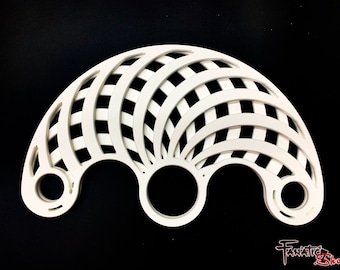 "Hypno - 3.25"" Russian Grip Custom Flow Fans , Practice Fans, Day fans, Tech Fans, Fan Poi hula for Flow Fests and Burning Man"