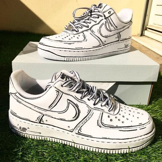 Custom Nike Air Force 1 cartoon