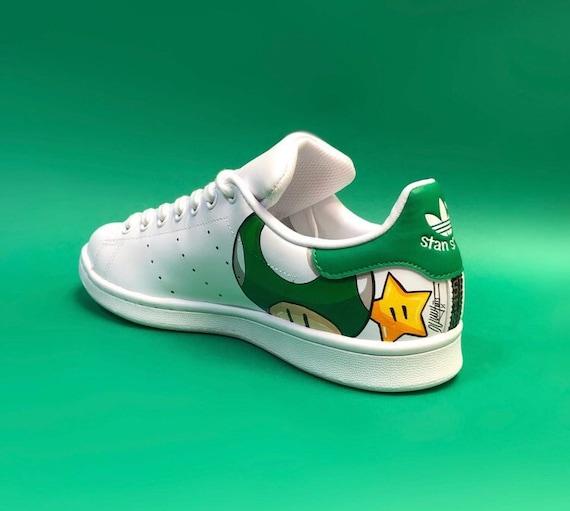 Custom Mario chaussure adidas stan smith   Etsy