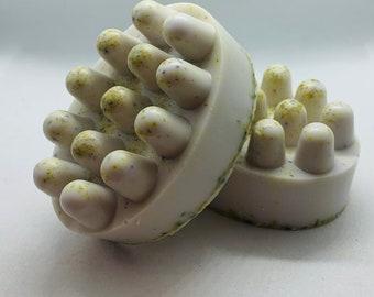 Chamomile-lavender massage soap bar