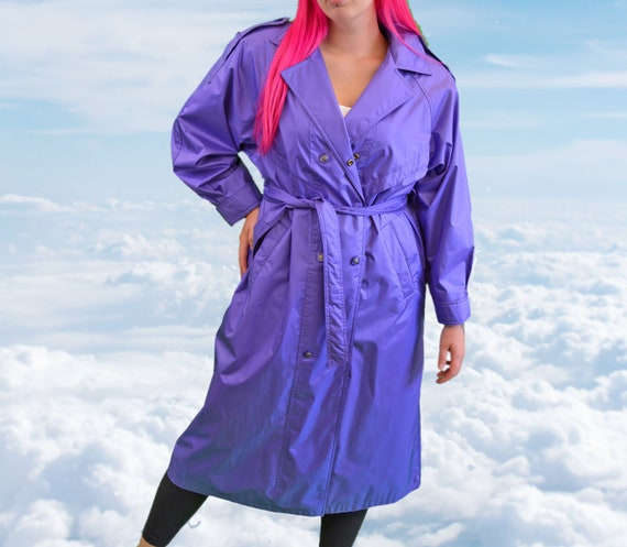 1980s Purple Trench/Rain Coat Vintage