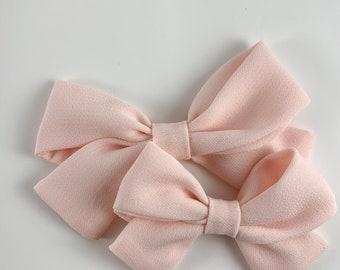 Take Home Headband Nylon Baby Headband Girls Pink Hair Bows Big Sailor Bow Light Pink Sailor Bow Sailor Bow Headband Baby Shower Gift