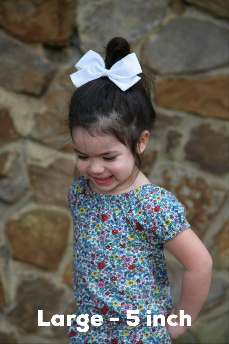 hair accessories nylon headbands newborn Norah Bow baby bows Blush Hairbows White Hairbow shower gift