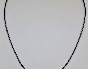 Black Cord Necklace, Black Cord Necklace for Pendants, Cords, Cord Necklace, Cord Necklace with Clasp