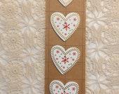 Scandi Wooden Love Heart Buttons