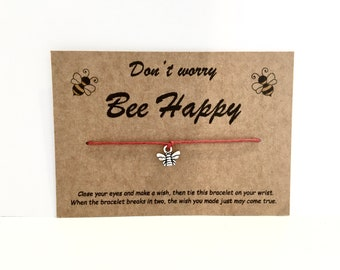 Beehive Bead Wish Bracelet Gift with Presentation Card