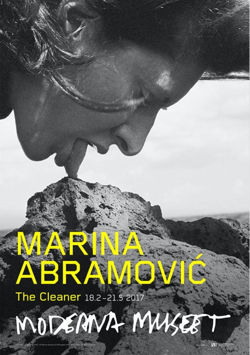 Stromboli III Volcano Museum Poster Large Oversized Black /& White 2017 Marina Abramovic The Cleaner