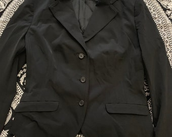 712d5db6ce4f Womens Prada Fitted Blazer Suit Jacket size 42 black Made in Italy