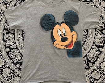 97c743553f4 Mens Disney Mickey Mouse Sketch Front and Back Tee Shirt size Medium gray
