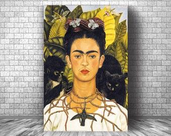 Popular 2020  Etsy Iconic Necklace ALTEREDHEAD on Etsy Frida Jewelry Frida Kahlo Pendant Necklace 2020 Trending Jewelry FRIDA KAHLO
