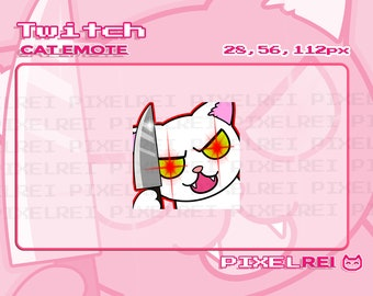 Evil Angry Siamese Balinese Cat Twitch Emote INSTANT DOWNLOAD