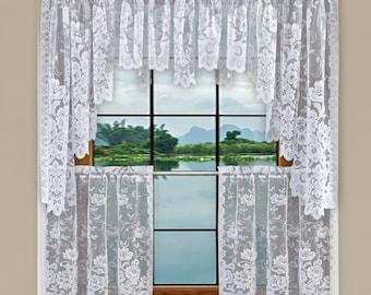 Kitchen Curtains Sets Etsy
