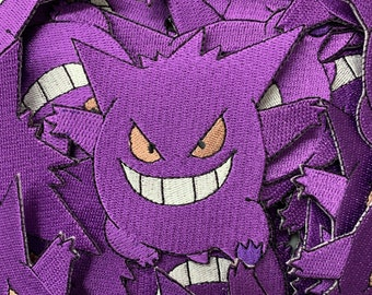 b3e4e58a78252 Gengar Pokemon Custom Embroidered Iron-On Sew-On Patch