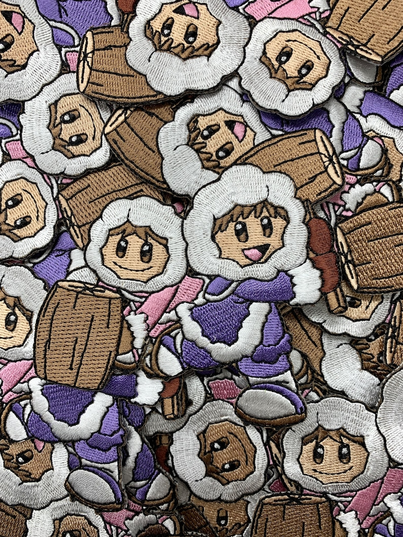 Ice Climbers Super Smash Bros Custom Embroidered Iron-On/Sew-On Patch,  Patches, Limited Edition Patch, Custom Patch, Custom Patches, Gamer